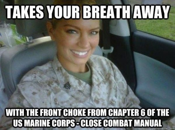 Funny amazing military women memes picture