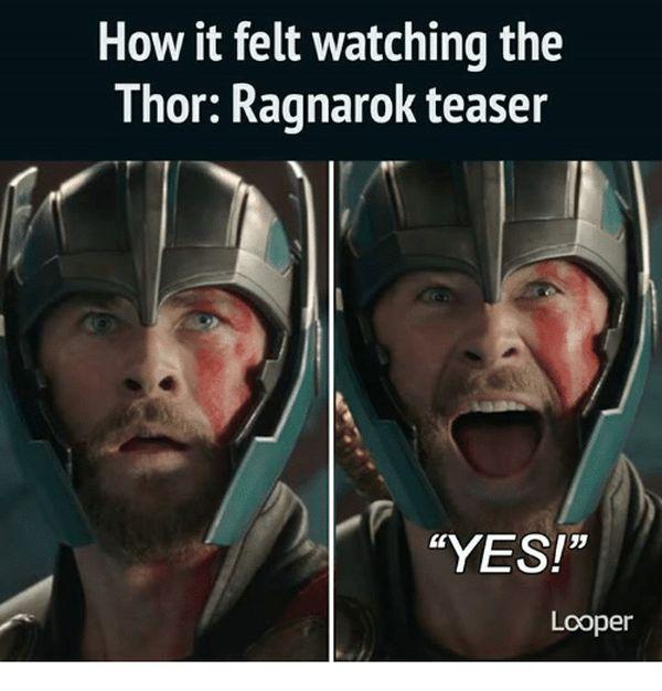 Funny amazing thor ragnarok meme image