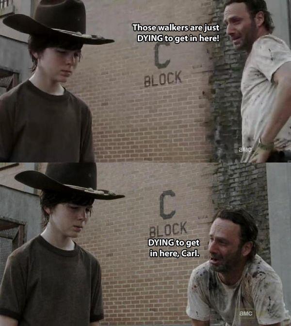 Funny carl walking dead meme jokes