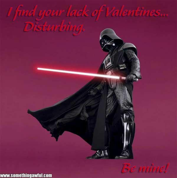 Funny dart vader valentine meme photo