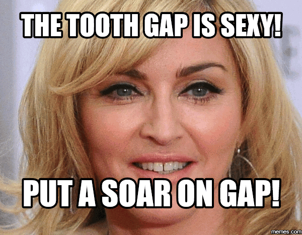 Gap Tooth Meme Funny Image Photo Joke 02
