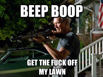 Get Off My Lawn Meme Funny Image Photo Joke 01
