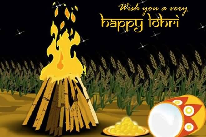 Happy Lohri 2018 Greetings Card Design