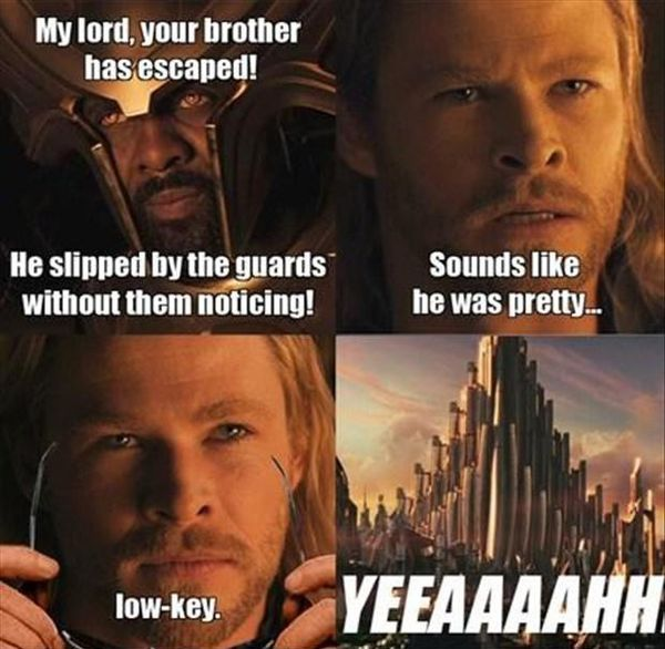 Hilarious cool funny thor jokes meme