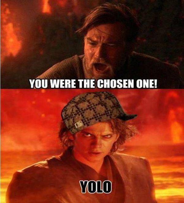 Hilarious perfect star wars anakin skywalker meme joke