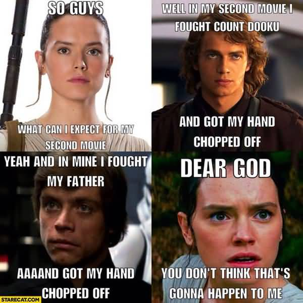 Hilarious rey star wars meme image