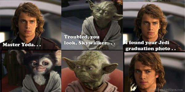 Hilarious star wars anakin skywalker and yoda meme picture