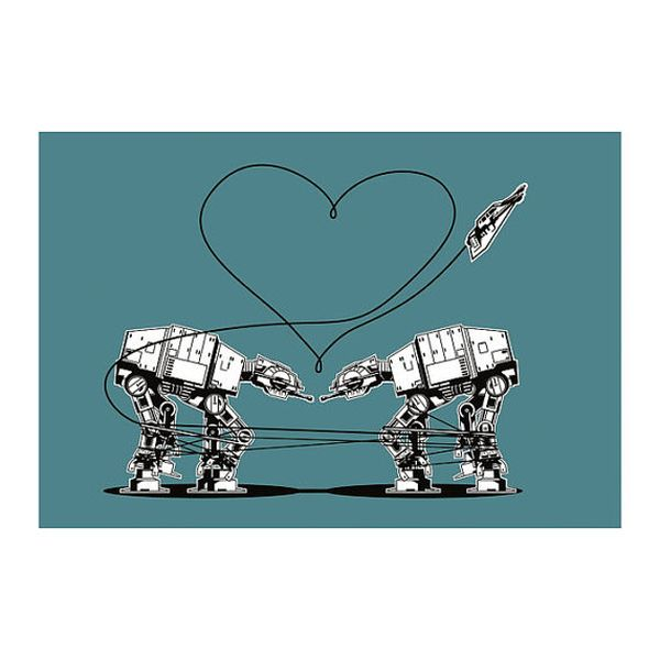 Hilarious star wars at at valentine meme image