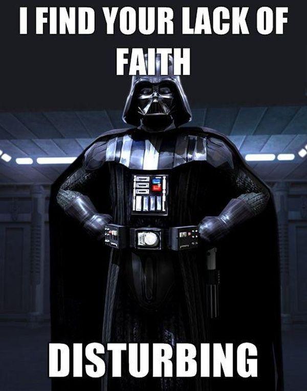 Hilarious star wars dart vader meme joke