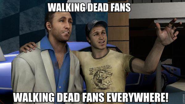 Hilarious walking dead fans be like photo