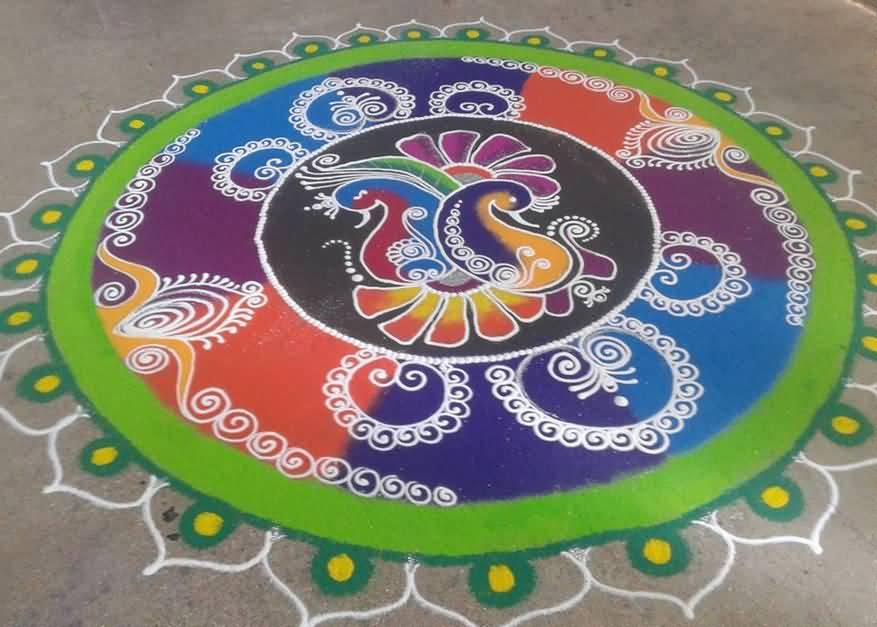 Hindu Rangoli Designs The Lohri Rangoli Design