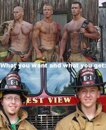 Hot Firefighter Meme Funny Image Photo Joke 06
