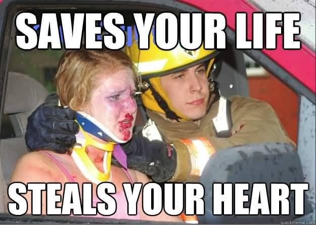 Hot Firefighter Meme Funny Image Photo Joke 14