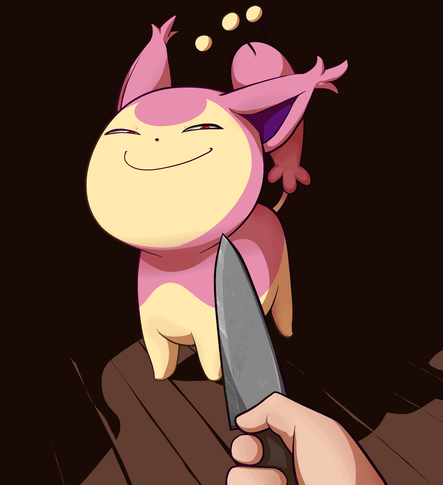 Knife Cat Meme Joke Image 04