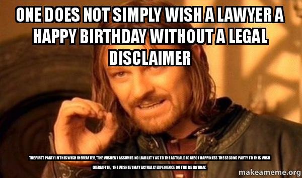 Lawyer Birthday Meme Joke Image 04