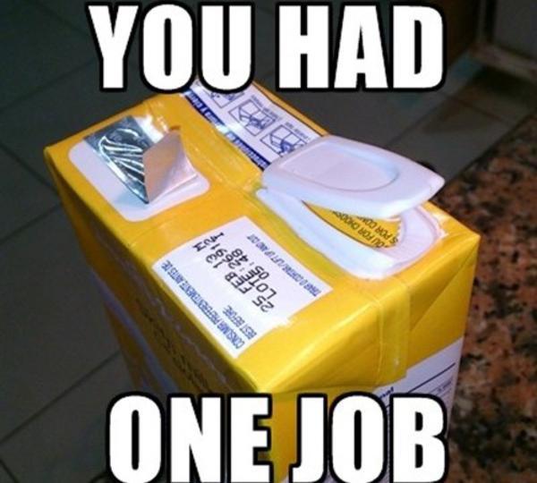 One Job Meme Funny Image Photo Joke 01