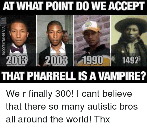 Pharrell Vampire Meme Funny Image Photo Joke 03