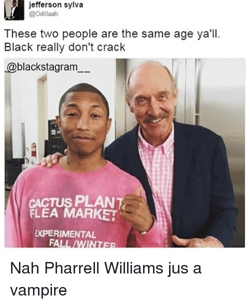 Pharrell Vampire Meme Funny Image Photo Joke 09