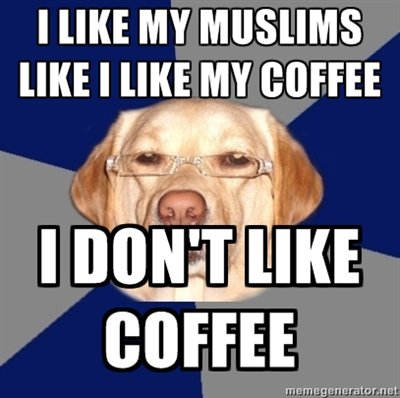 Racist Dog Meme Funny Image Photo Joke 03