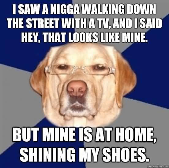 Racist Dog Meme Funny Image Photo Joke 09