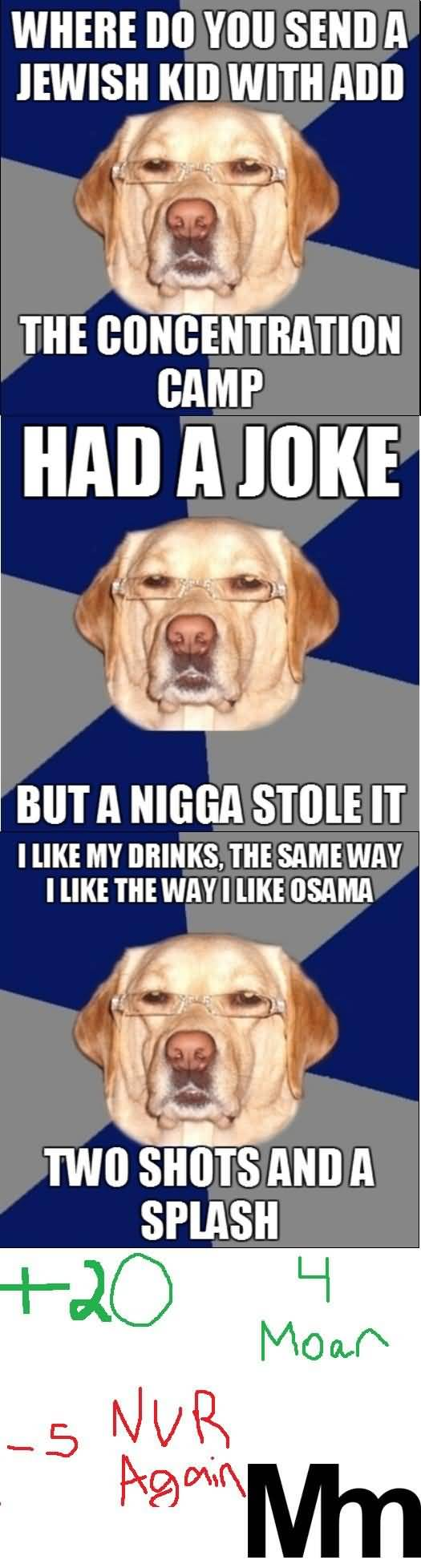 Racist Dog Meme Funny Image Photo Joke 14