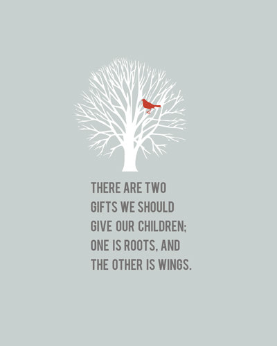 Roots And Wings Quote Meme Image 15