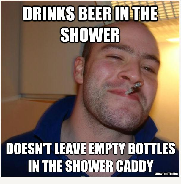 Shower Beer Meme Funny Image Photo Joke 08