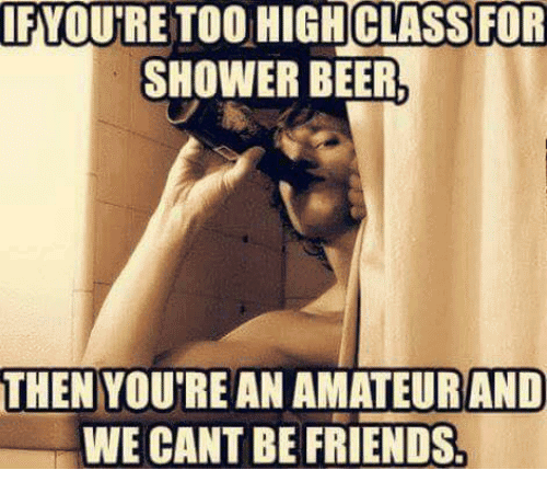 Shower Beer Meme Funny Image Photo Joke 09