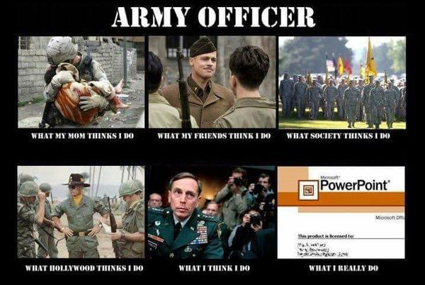 Very funny army officer meme image