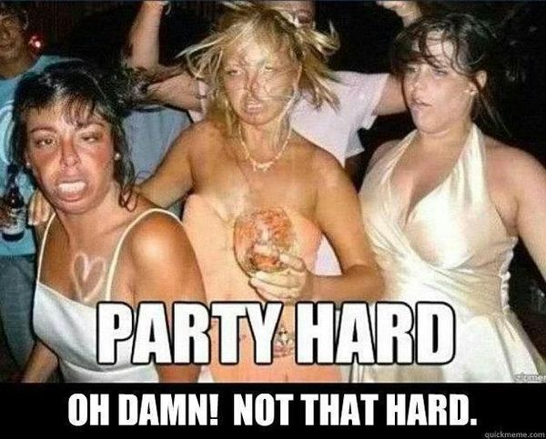 Very funny party girl meme photo