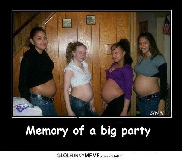 Very funny party girl meme picture