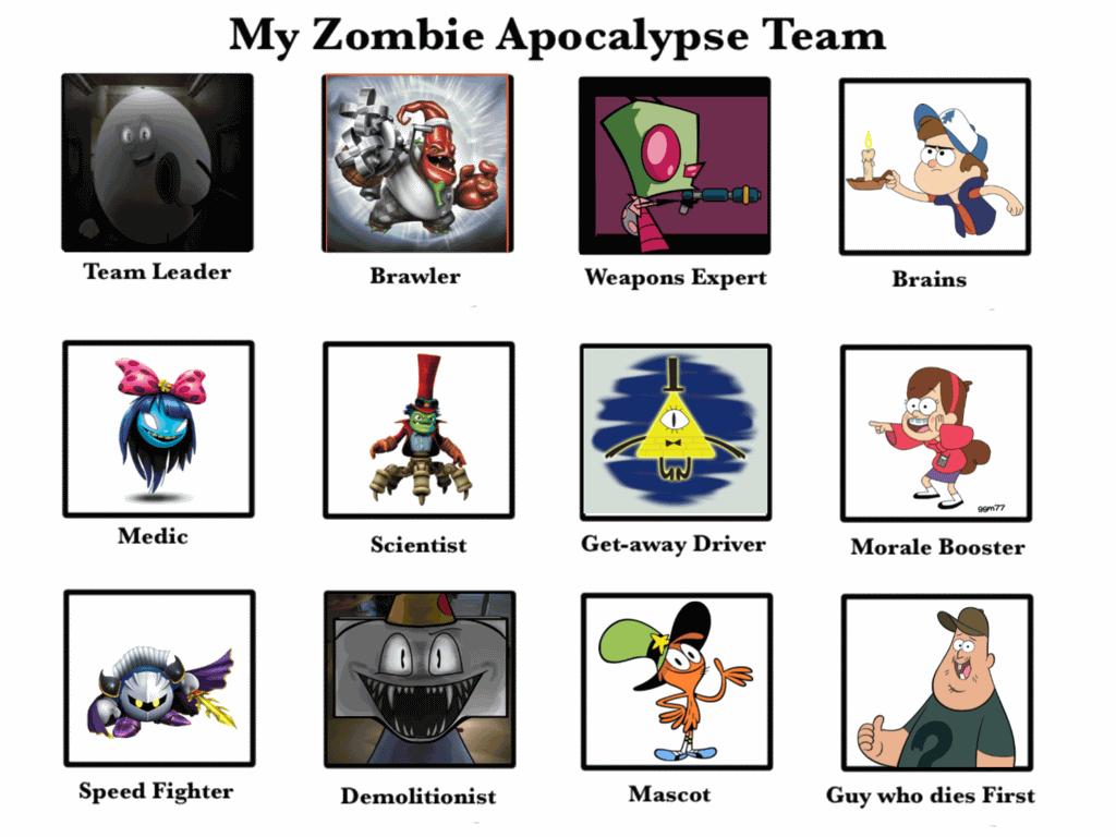 Zombie Apocalypse Team Meme Funny Joke 08