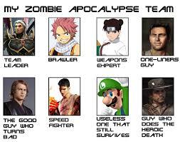 Zombie Apocalypse Team Meme Funny Joke 14