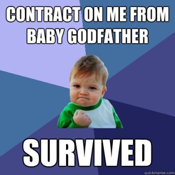Godfather Baby Meme Funny Image Photo Joke 01
