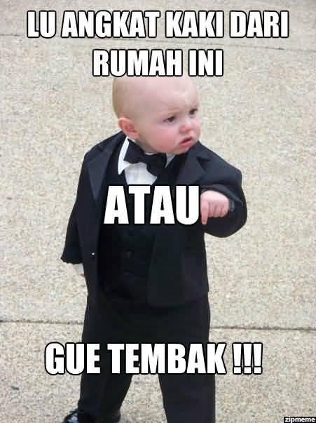 Godfather Baby Meme Funny Image Photo Joke 03