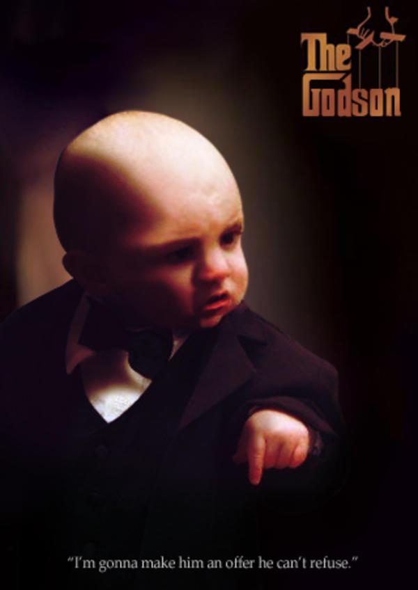 Godfather Baby Meme Funny Image Photo Joke 05