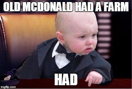 Godfather Baby Meme Funny Image Photo Joke 06