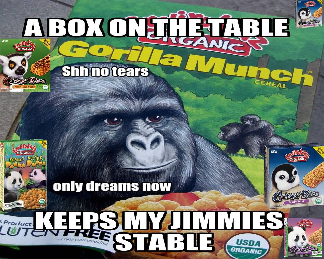 Gorilla Munch Meme Funny Image Photo Joke 12