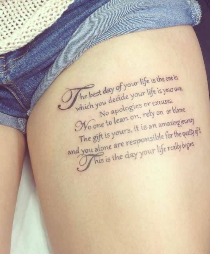 Quote Tattoos On Thigh Meme Image 06