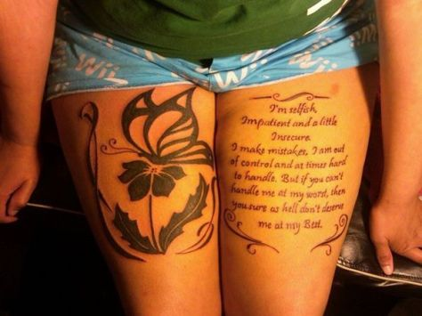 Quote Tattoos On Thigh Meme Image 18