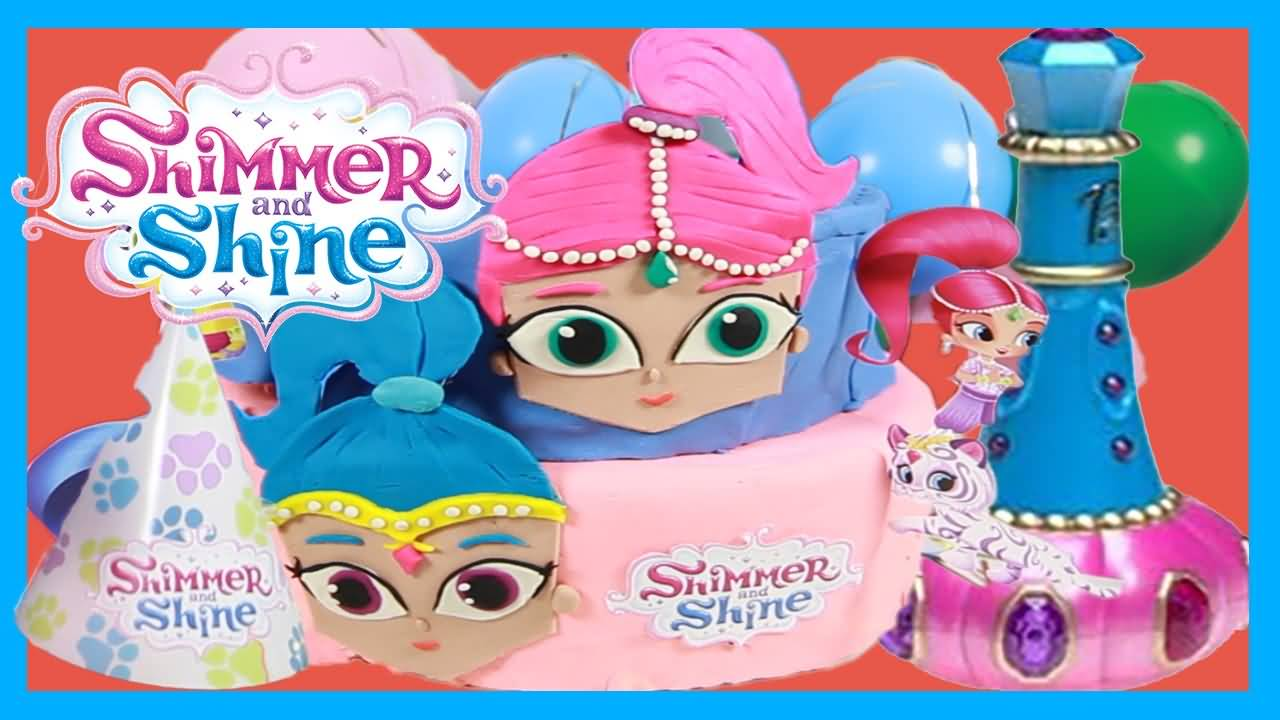 Shimmer and Shine Birthday Cake Image Photo Party 14