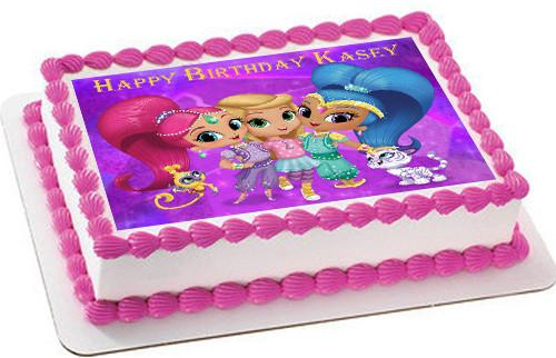 Shimmer and Shine Birthday Cake Image Photo Party 17