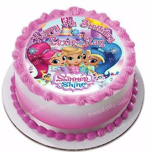 Shimmer and Shine Birthday Cake Image Photo Party 21