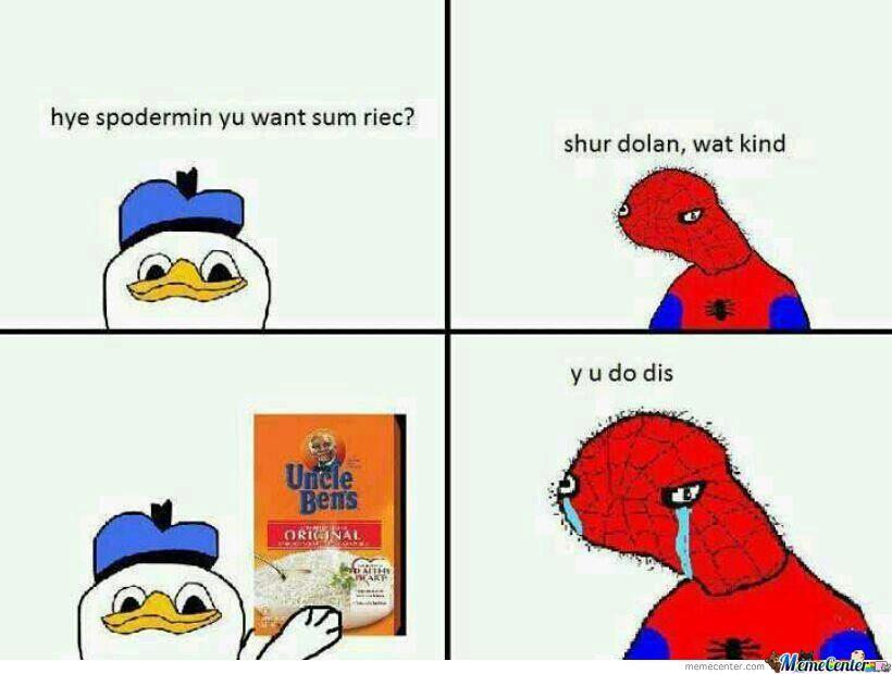 Spoderman Meme Funny Image Photo Joke 08