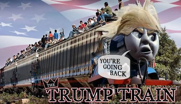 Trump Train Meme Funny Image Photo Joke 09