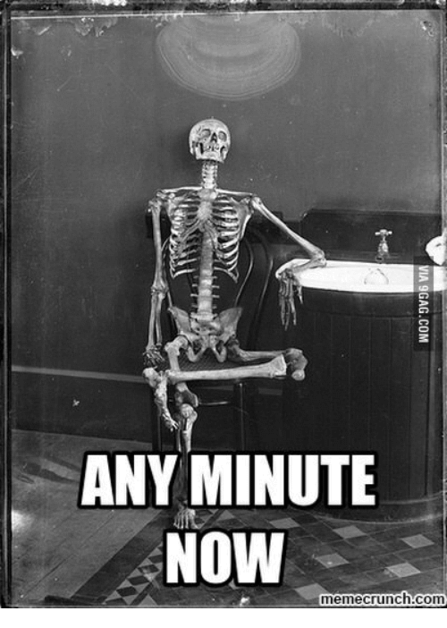 Waiting Skeleton Meme Funny Image Photo Joke 03