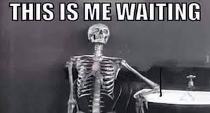 Waiting Skeleton Meme Funny Image Photo Joke 04