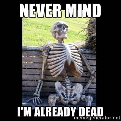 Waiting Skeleton Meme Funny Image Photo Joke 13