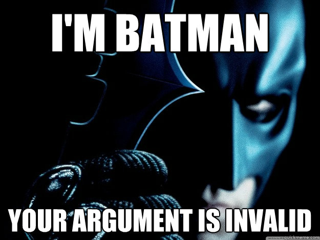 I'M Batman Meme Funny Image Photo Joke 10