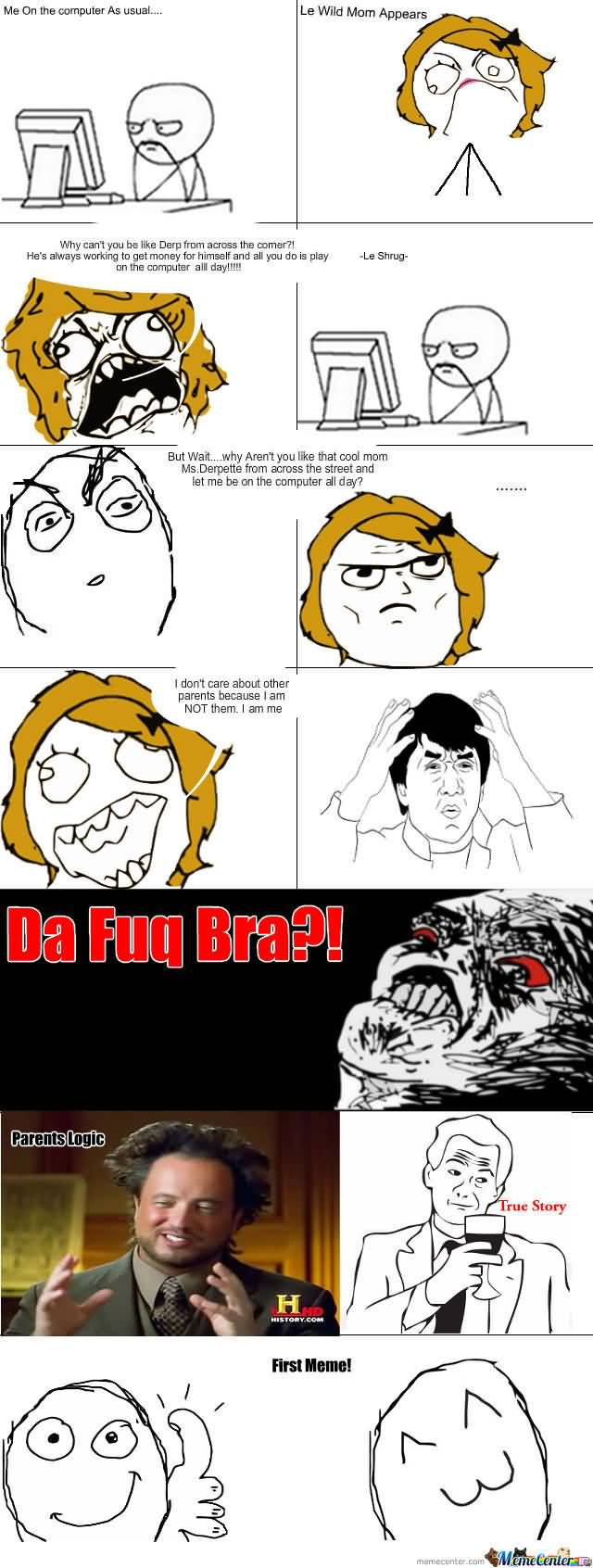 Parents Meme Funny Image Photo Joke 24